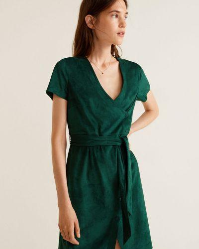 Платье мини с V-образным вырезом на пуговицах Mango
