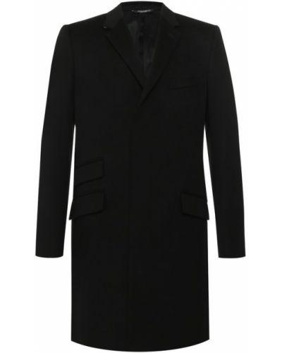 Пальто однобортное кашемировое Dolce & Gabbana