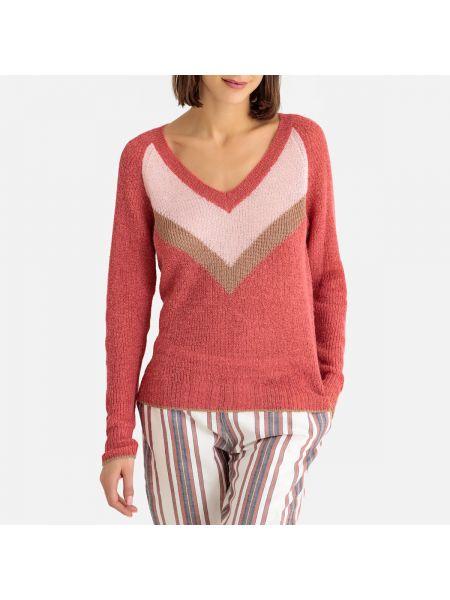 С рукавами шерстяной розовый кардиган с V-образным вырезом Harris Wilson