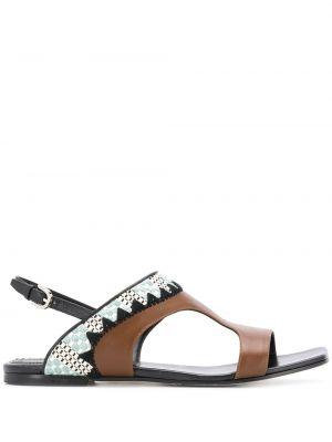 Sandały z klamrami brązowy Emilio Pucci