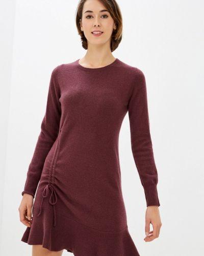 Красное вязаное платье Rodier
