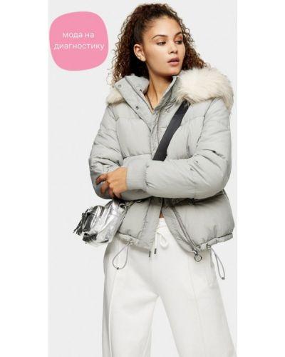 Серая теплая куртка Topshop