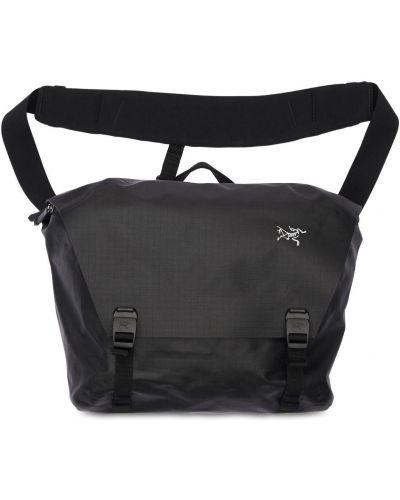 Czarna torba na laptopa z klamrą Arcteryx