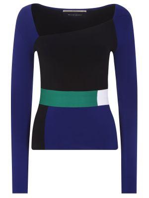 Асимметричный черный тонкий свитер из вискозы Roland Mouret