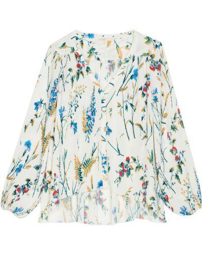 Блузка с длинным рукавом на резинке плиссированная Maje