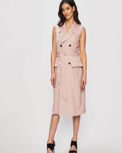 Платье мини с карманами однотонное Glamorous