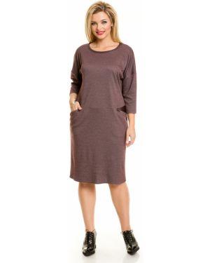 Повседневное платье со вставками из вискозы Novita