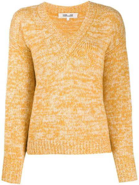 Желтый свитер из альпаки Dvf Diane Von Furstenberg