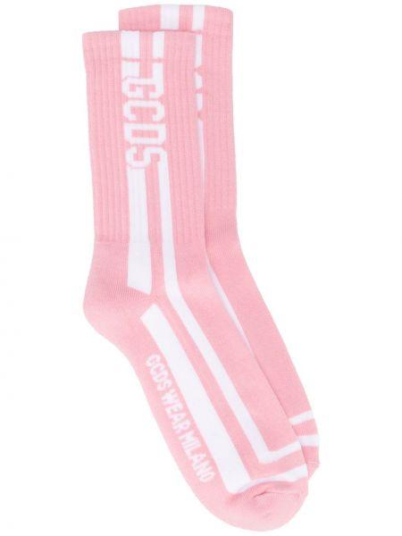 Ватные розовые хлопковые носки Gcds