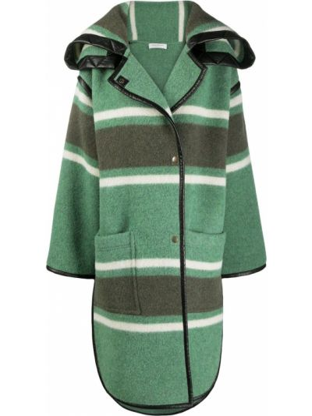 Зеленое шерстяное пальто на пуговицах Philosophy Di Lorenzo Serafini
