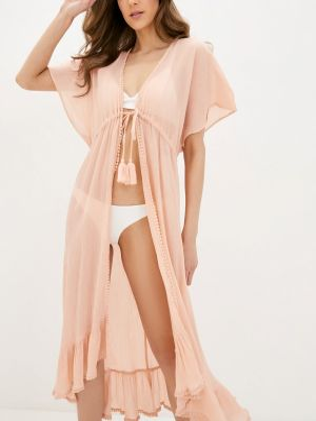 Пляжное платье розовое весеннее Pieces