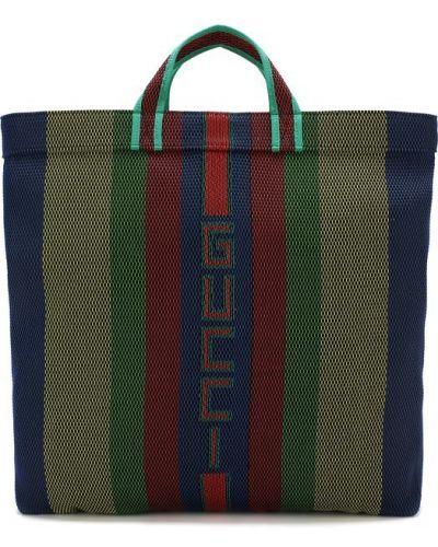 Сумка-тоут текстильная хлопковая Gucci