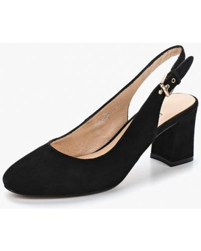 Черные туфли с открытой пяткой Elche