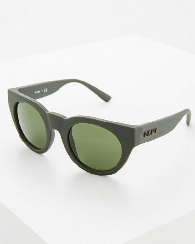 Зеленые солнцезащитные очки Dkny