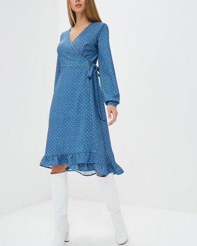 Платье с запахом осеннее Ribbon