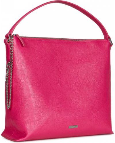 Кожаная сумка на цепочке розовый Ecco