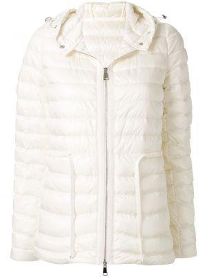 Куртка с капюшоном мятная с карманами с перьями с гусиным пухом Moncler