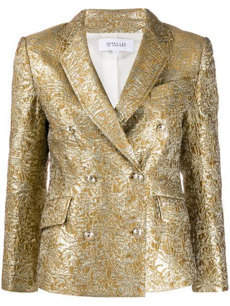Желтый пиджак двубортный с карманами Derek Lam 10 Crosby