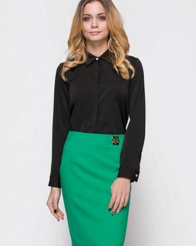 Юбочный костюм зеленый черный Zubrytskaya