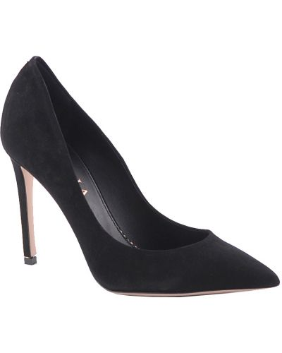 Кожаные туфли на каблуке замшевые Le Silla