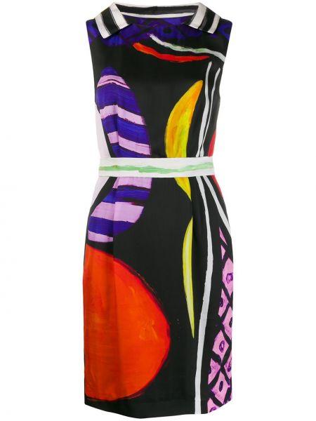 Платье трапеция с абстрактным принтом Moschino