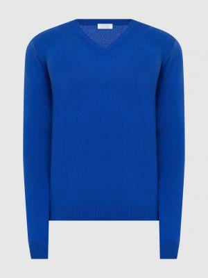 Кашемировый пуловер - синий Malo