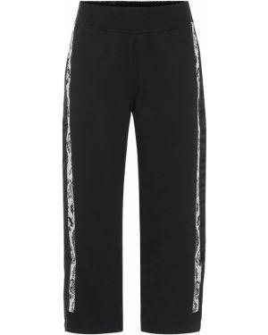 Спортивные брюки укороченные кожаные Adidas By Stella Mccartney