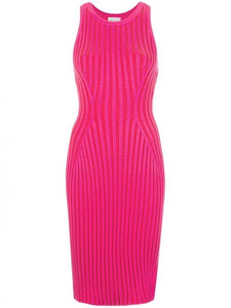 Платье миди в рубчик с разрезами по бокам Milly