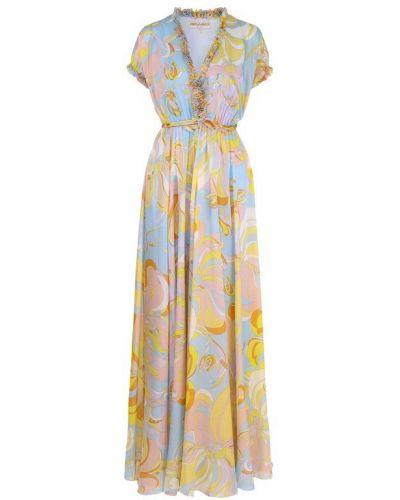 Платье мини с V-образным вырезом макси Emilio Pucci