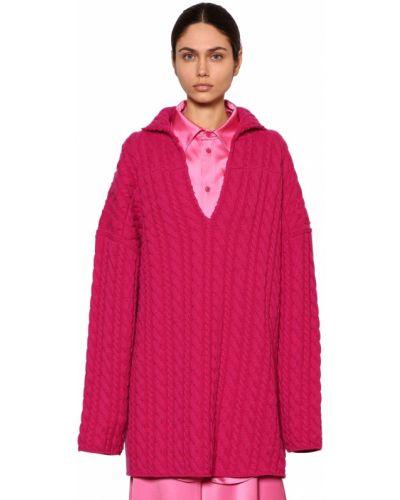 Sweter przeoczenie z dekoltem z dekoltem w szpic Balenciaga