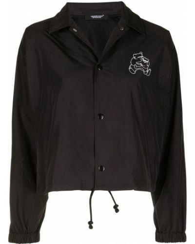 Черная короткая куртка с воротником на пуговицах Undercover