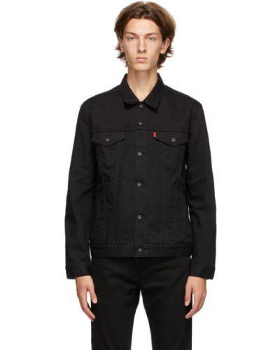 Черная джинсовая куртка с воротником с карманами Levi's®