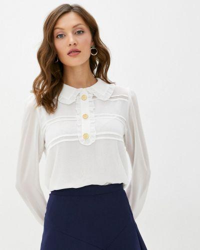 Белая блузка с оборками Арт-Деко