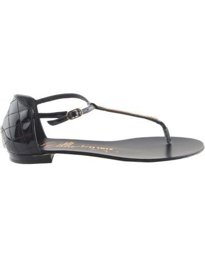 Сандалии черные на каблуке Le Silla
