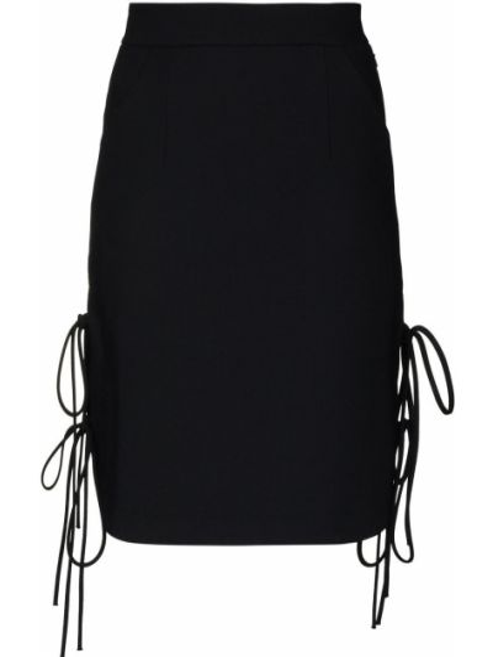 Шерстяная черная юбка мини Matériel