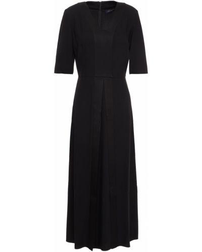 Платье миди атласное - черное Piazza Sempione