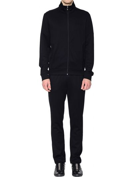 Хлопковый спортивный костюм - черный Hugo Boss