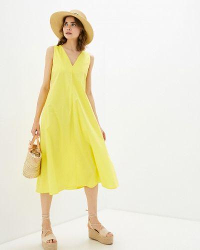 Прямое желтое платье А-силуэта You&you