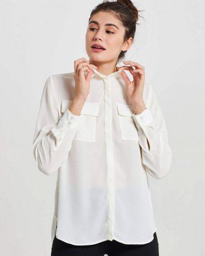Белая блузка с длинными рукавами Terranova