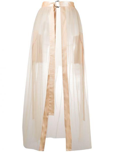 Юбка макси с завышенной талией прозрачная Loulou