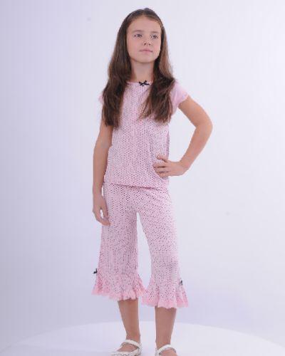 Пижама с брюками атласная свободная Arina Ballerina