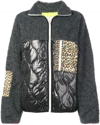Нейлоновая желтая длинная куртка пэчворк Sandy Liang