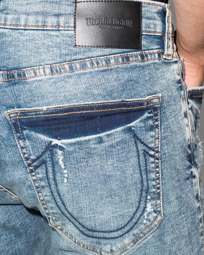 Зауженные джинсы - синие True Religion