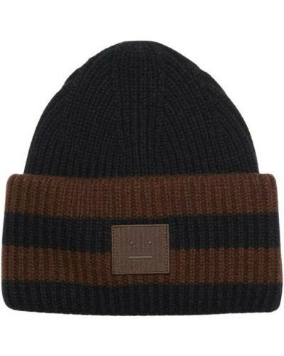 Czarna czapka beanie Acne Studios