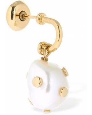 Złote kolczyki perły Saf Safu