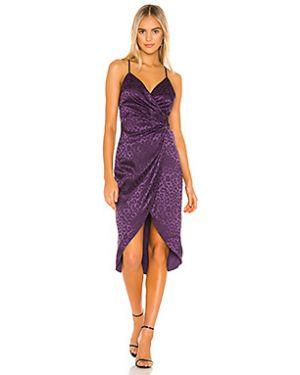 Фиолетовое платье миди на бретелях на молнии с подкладкой J.o.a.