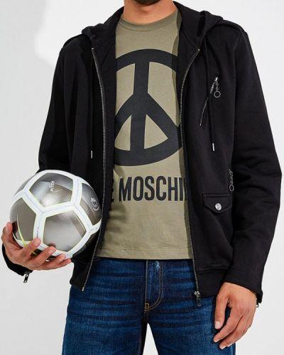 Черная толстовка Love Moschino