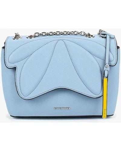 Кожаный сумка через плечо голубой Cromia