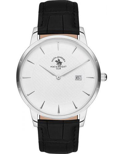 Часы водонепроницаемые с кожаным ремешком Santa Barbara Polo & Racquet Club