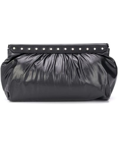 Черная кожаная сумка с карманами Isabel Marant
